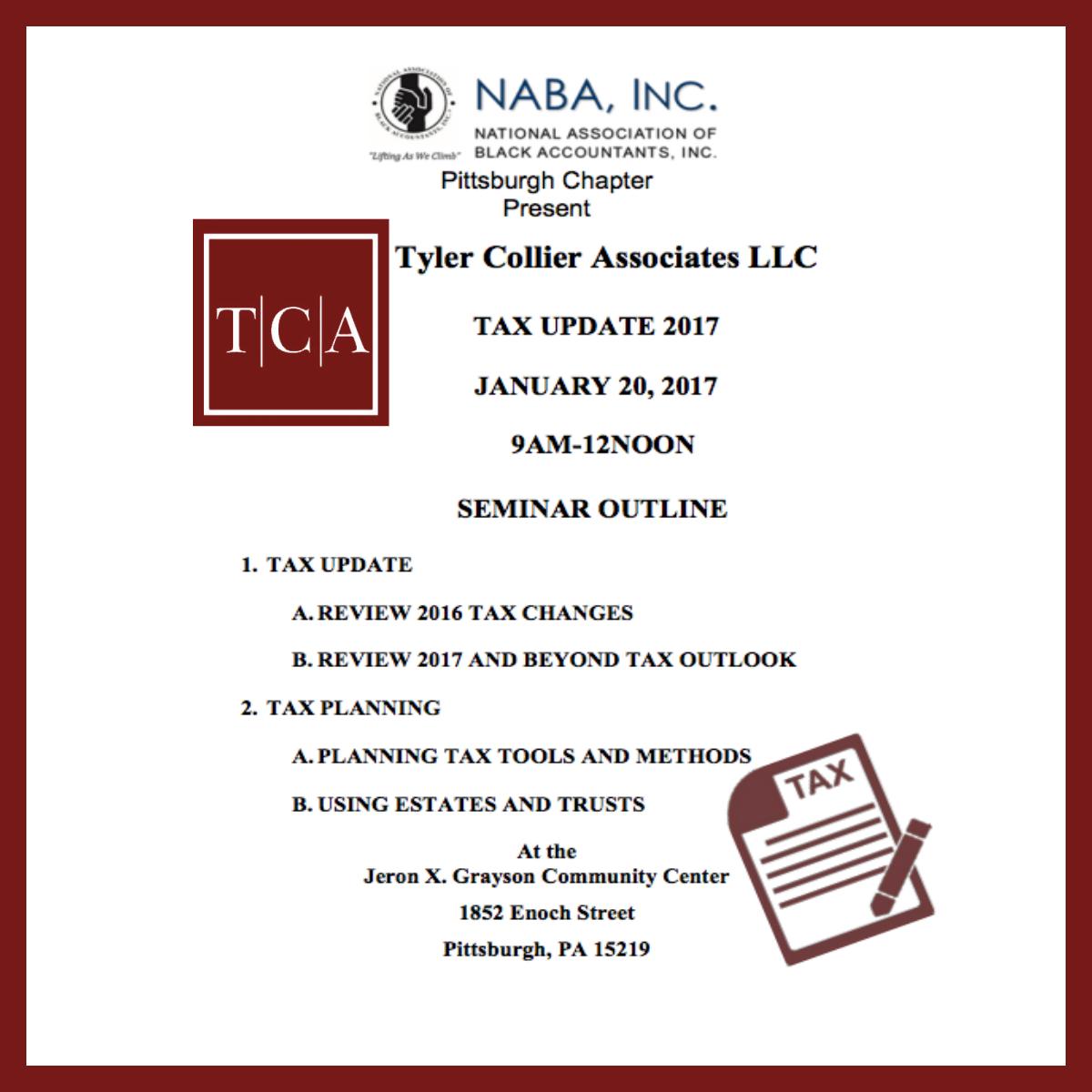 TylerCollierCPA Tax Update